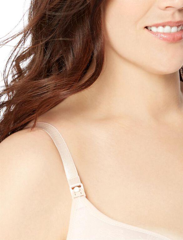 Jessica Simpson Plus Size Seamless Clip Down Nursing Bra, Rose