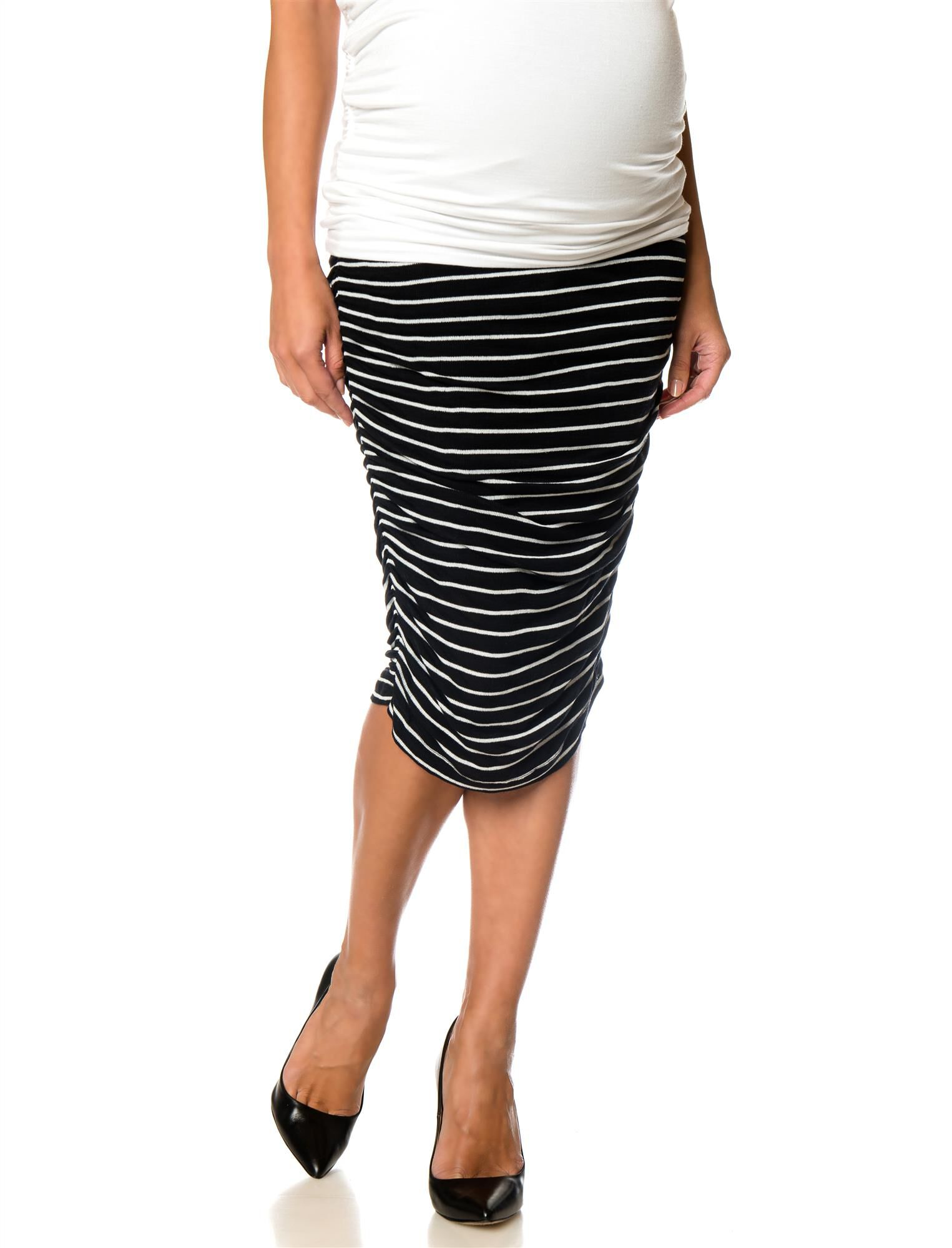 Splendid Secret Fit Belly Ruched Maternity Skirt