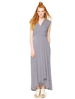 High-low Geo Print Maternity Maxi Dress, Multi Print