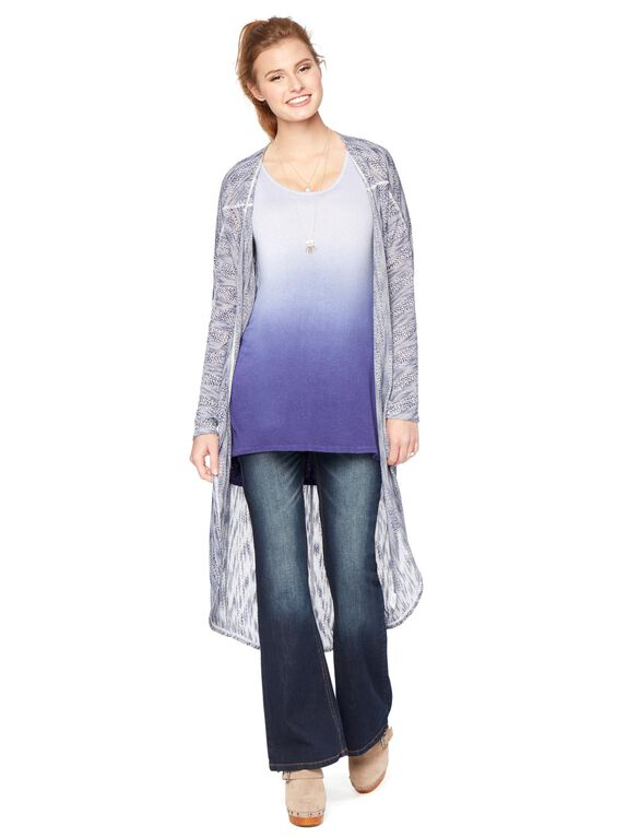 Wendy Bellissimo Cascade Maternity Cardigan, Blue