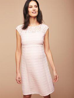 Lace Detail Maternity Dress, Potpourri Pink