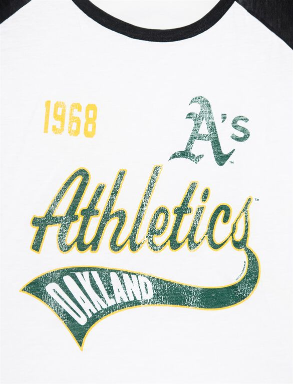 Oakland Athletics MLB Raglan Sleeve Maternity Tee, Athletics