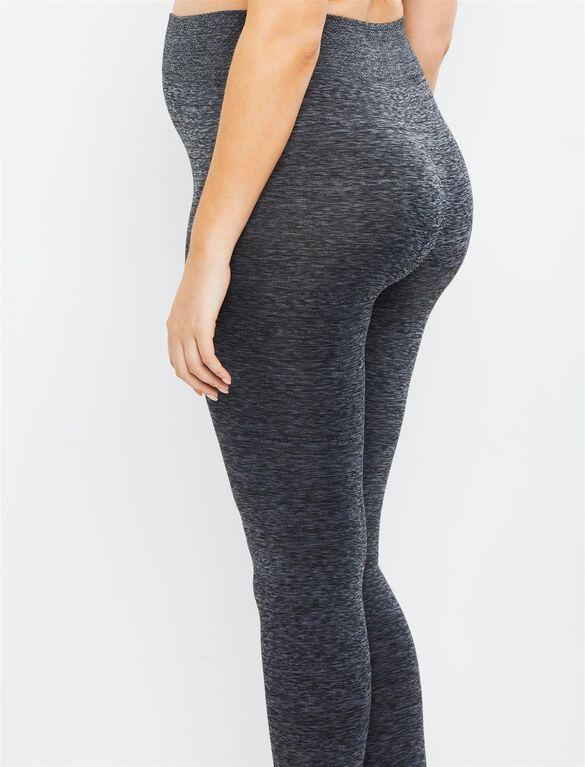 Under Belly Maternity Leggings, Grey Spacedye