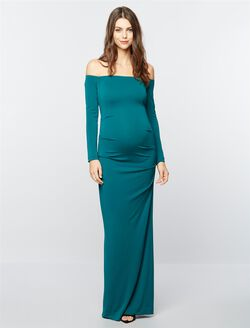 Nicole Miller Maternity Special Occasion Dress, Green