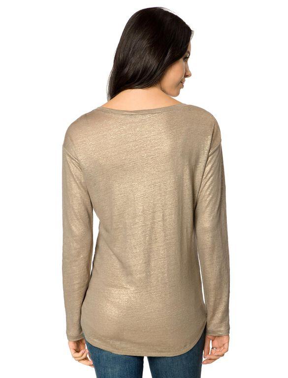 Maternity T Shirt, Gold