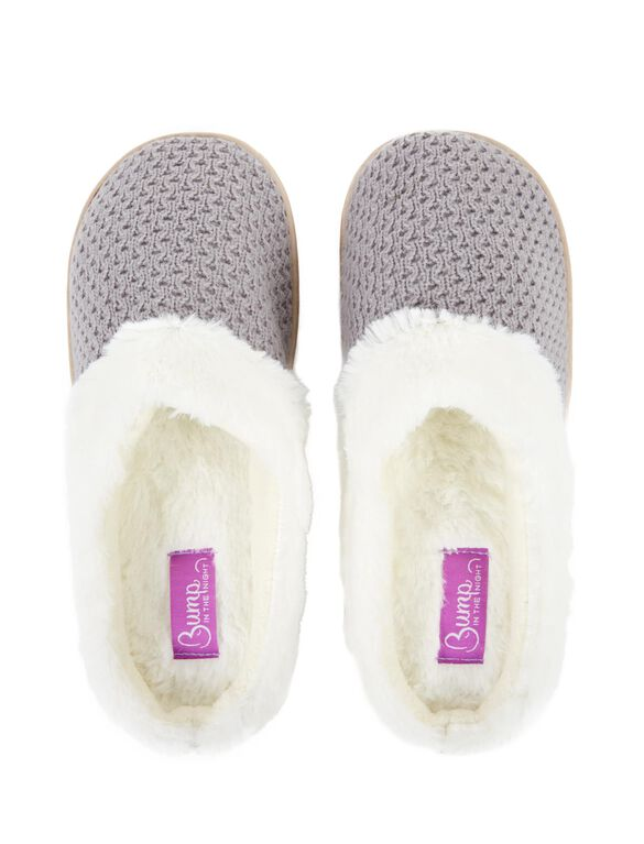 Slide Slippers, Grey With Lurax