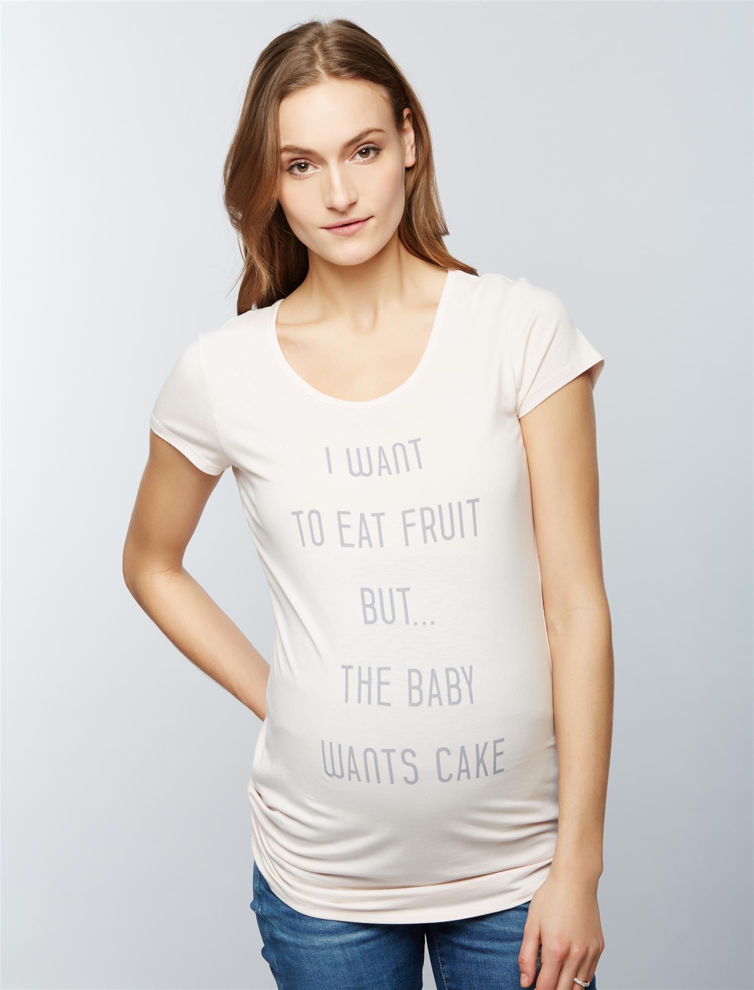 Baby Wants Cake Maternity Tee
