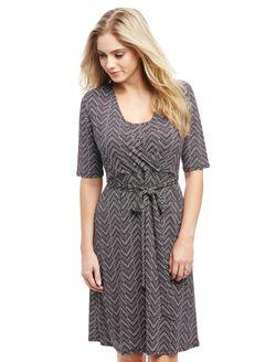 Wrap Nursing Dress- Geo Print, Geo Print