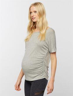 Beyond The Bump Dolman Sleeve Maternity Top, Heather Grey