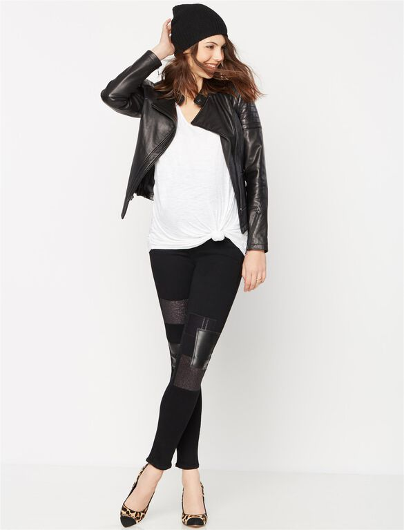Paige Denim Secret Fit Belly Skinny Leg Maternity Jeans, Black