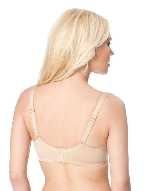 Wireless Full Coverage Nursing Bra, Nude
