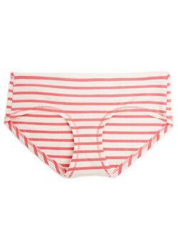 Hipster Maternity Panty (single), Rose/White Stripe
