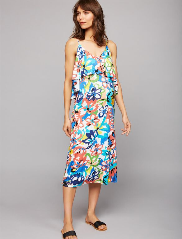 Rachel Pally Cold Shoulder Maternity Dress, Flores Print