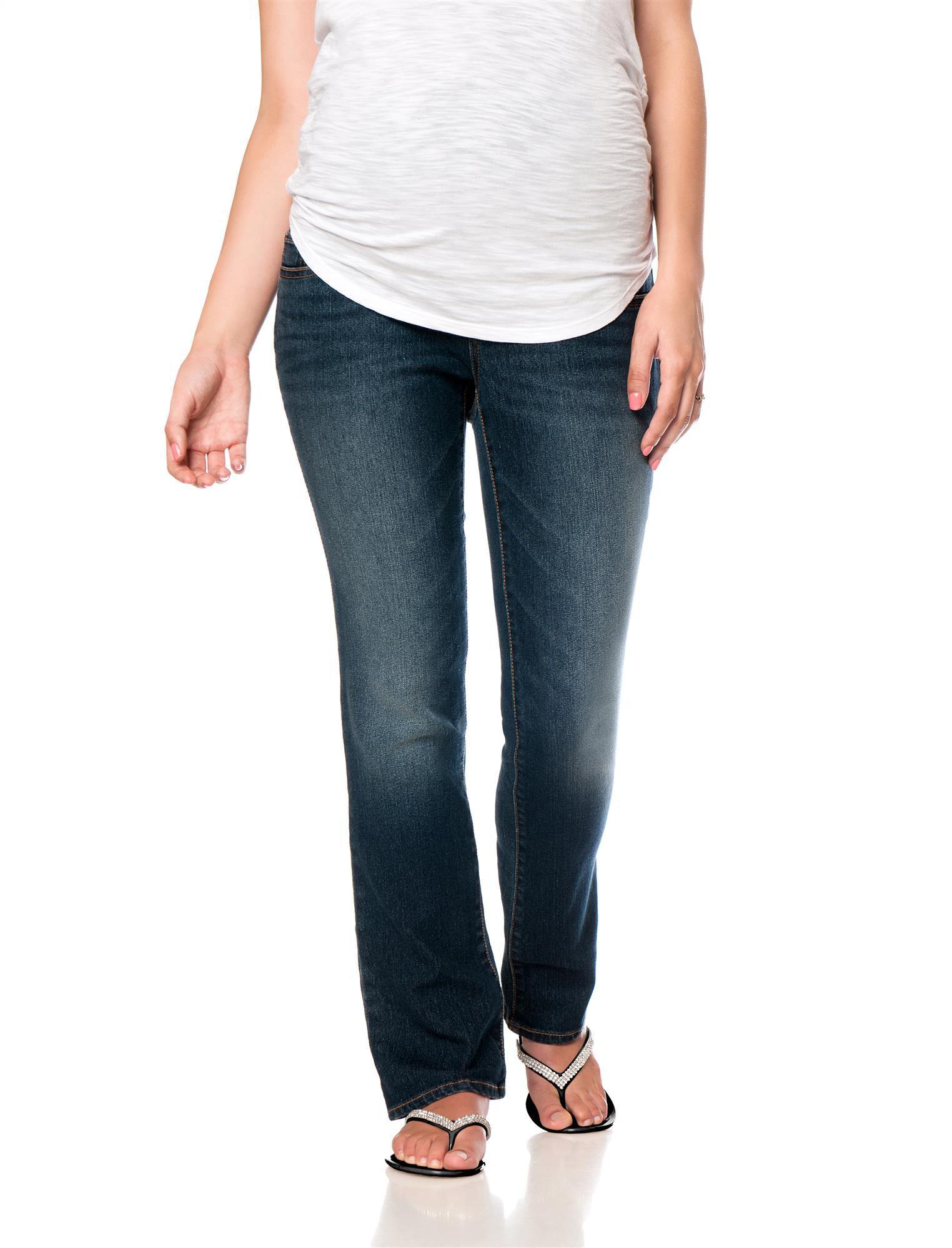 Motherhood Indigo Blue Petite Skinny Boot Maternity Jeans