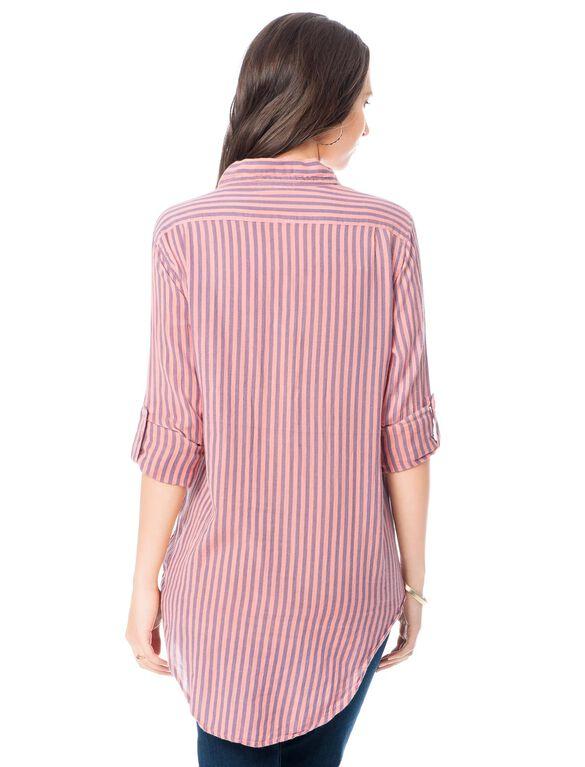 Sundry Maternity Shirt, Mutli Stripe
