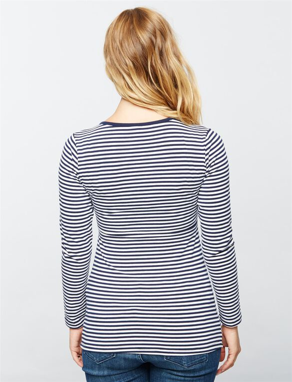 Ripe Penny Striped Nursing Tee, Navy Stripe