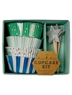 Meri Meri Toot Sweet Cupcake Kit, Blue