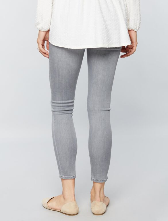 DL1961 Secret Fit Belly Erin Ankle Maternity Jeans, Blizzard Gray Wash