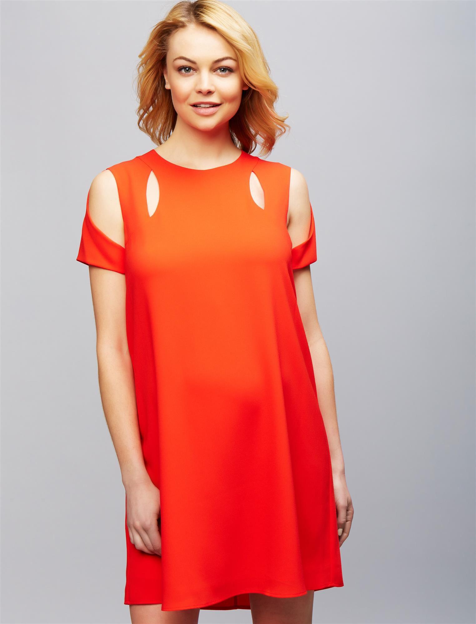 BCBGMAXAZRIA Cold Shoulder Cutout Maternity Dress