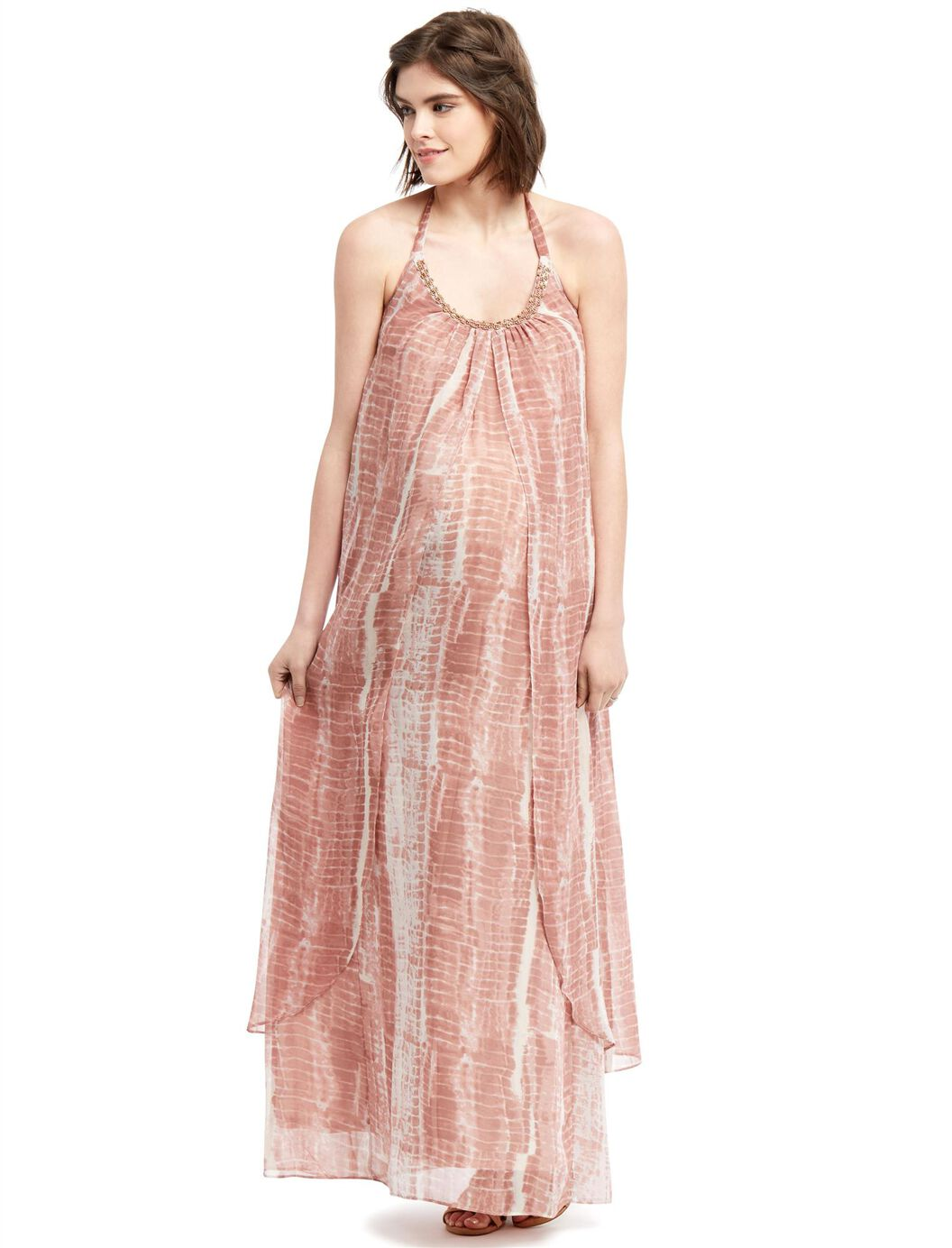 Wendy bellissimo beaded detail maternity dress motherhood maternity wendy bellissimo beaded detail maternity dress tan tie dye ombrellifo Image collections