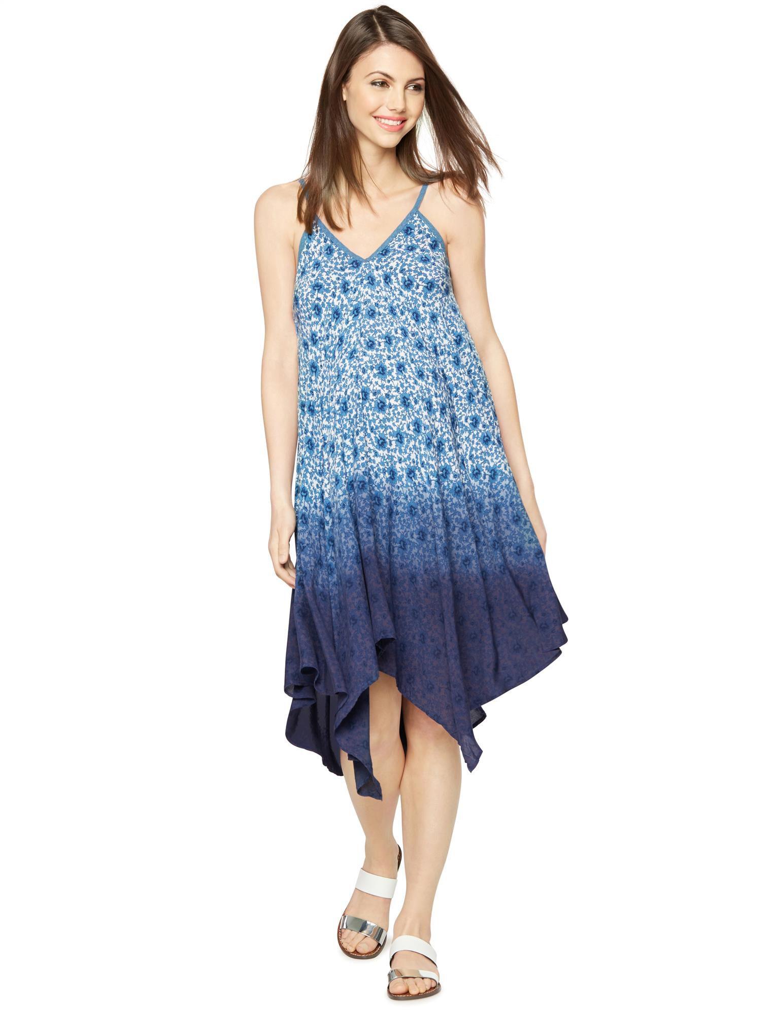 Floral Hanky Hem Maternity Dress