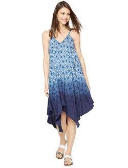 Floral Hanky Hem Maternity Dress, Print