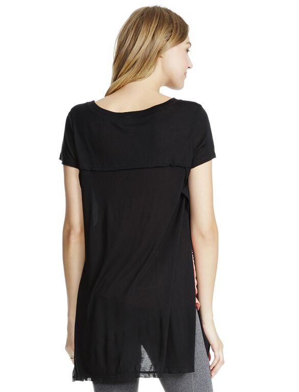 Jessica Simpson Side Access Super Soft Nursing Top, Black