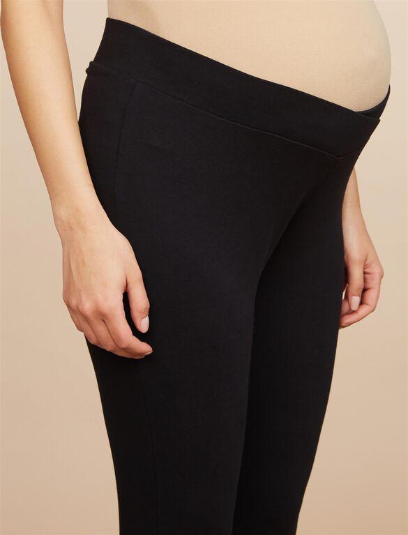 BumpStart Under Belly Maternity Leggings (2 Pack)- Solids, Black And Black