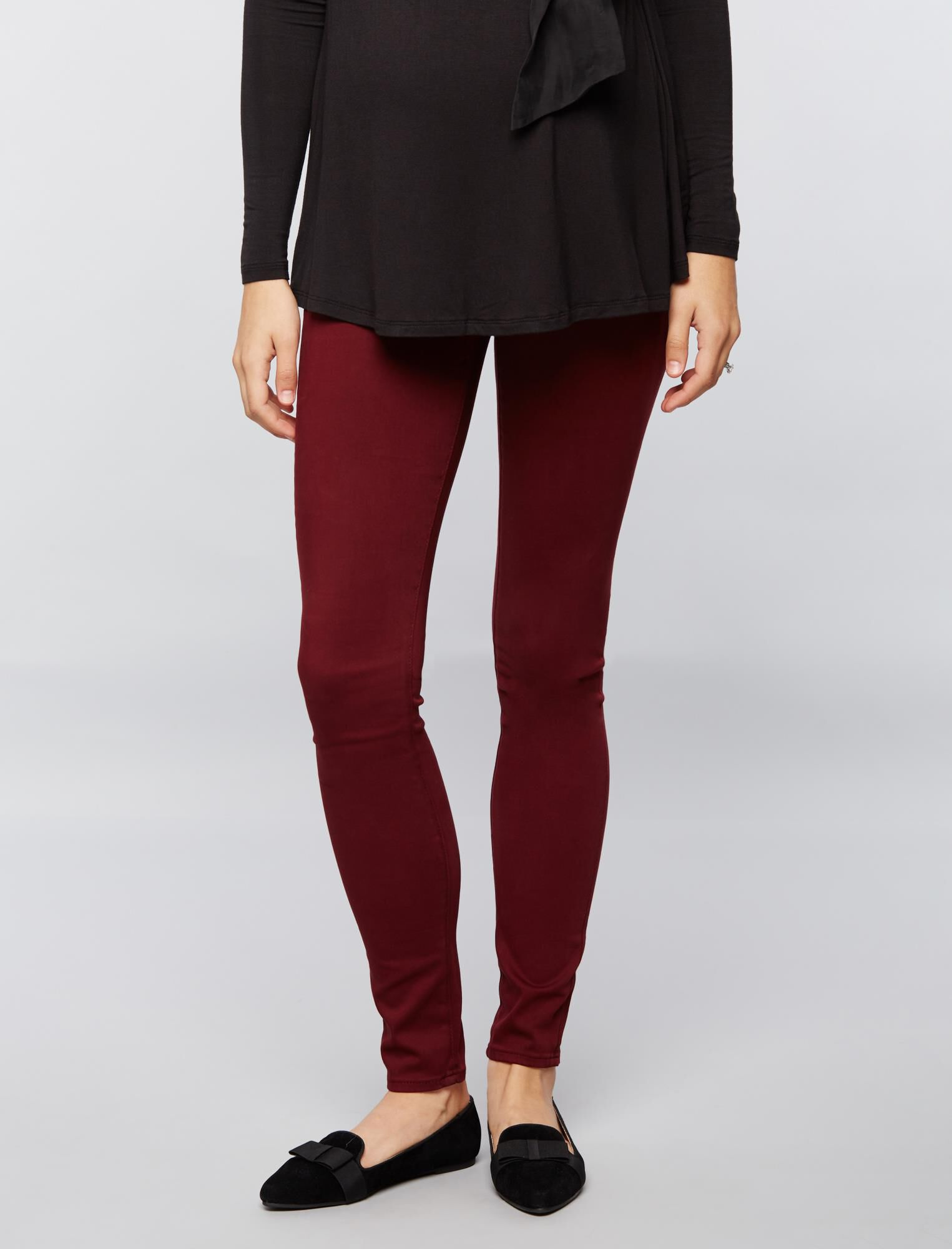 AG Jeans Secret Fit Belly Sateen Maternity Pants- Burgundy