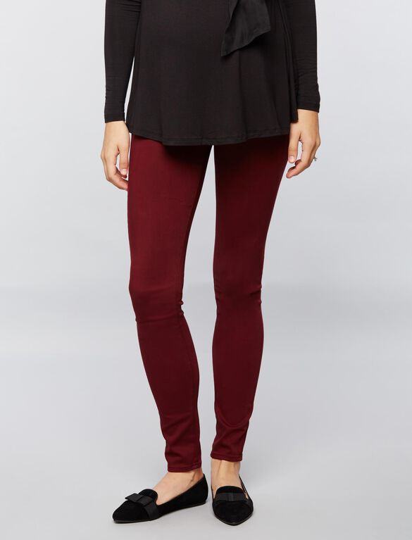 AG Jeans Secret Fit Belly Sateen Maternity Pants- Burgundy, Burgundy