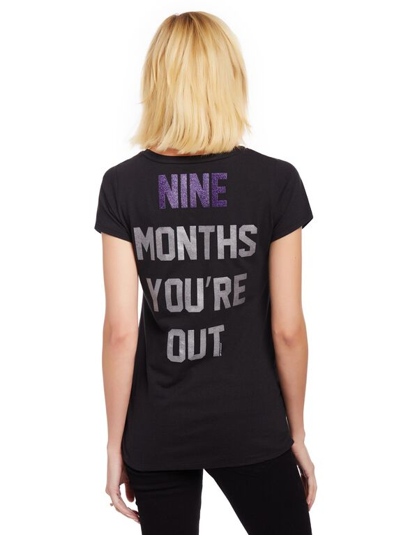 Colorado Rockies MLB You're Out Maternity Tee, Rockies Black