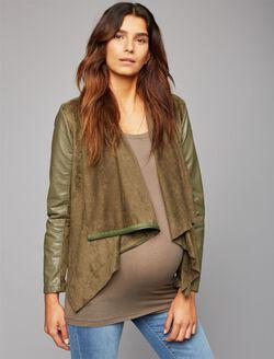Blank NYC Drape Front Maternity Jacket, Olive