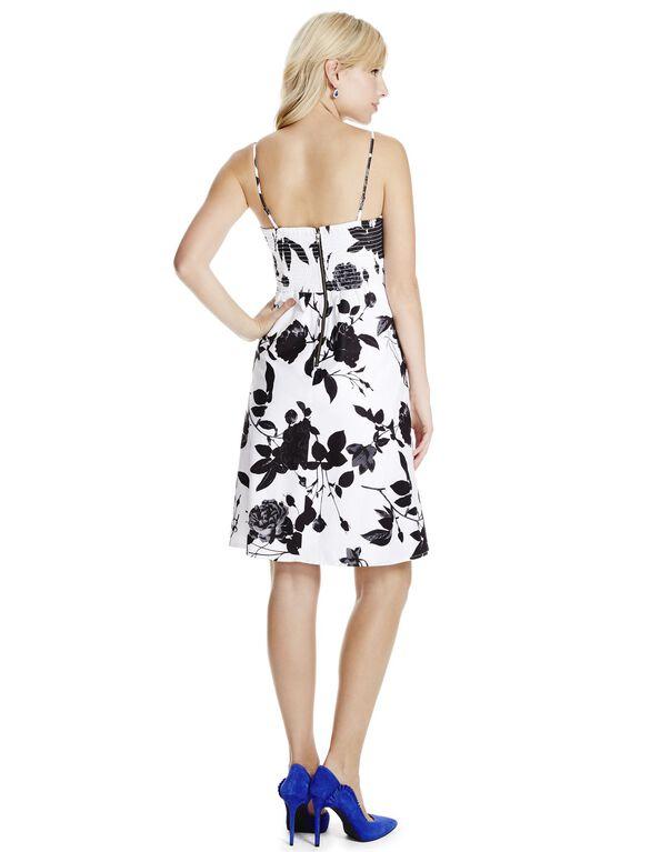 Jessica Simpson Empire Waist Maternity Dress, Black/White Floral