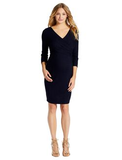Jessica Simpson Wrap Maternity Dress, Navy