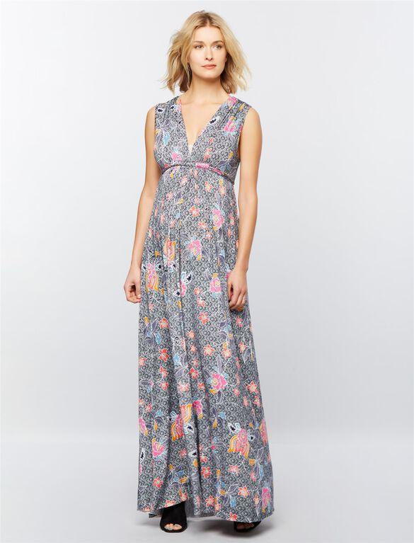 Rachel Pally Caftan Maternity Maxi Dress, Island Flower Print