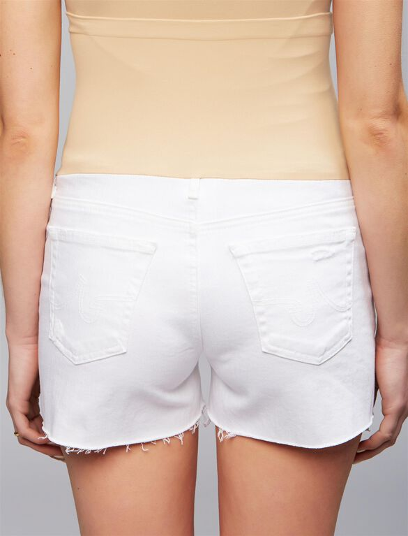 AG Secret Fit Belly Hailey Cut Off Maternity Shorts, White