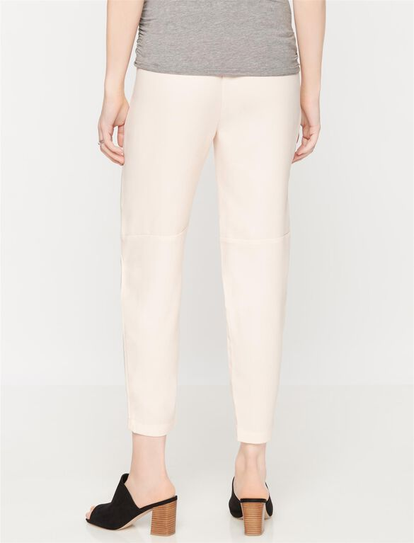 Under Belly Crepe Skinny Leg Maternity Pants, Pink