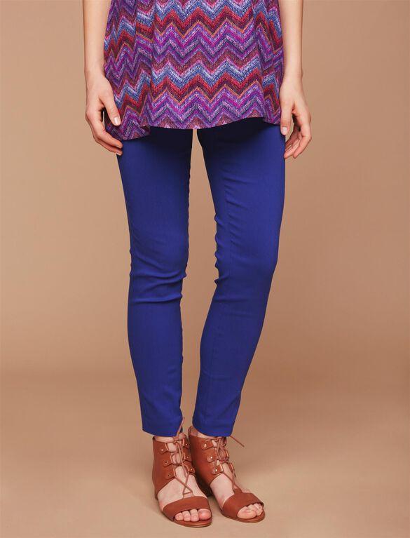 Secret Fit Belly Skinny Ankle Maternity Pants, Soft Cobalt