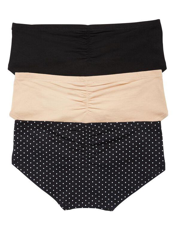 Maternity Hipster Panties (3 Pack), Black Multi Pack