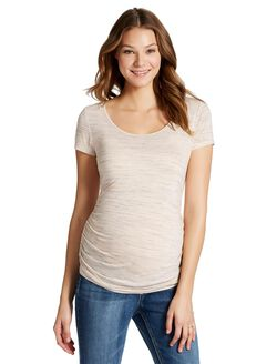 Jessica Simpson Back Interest Maternity T Shirt, Pink Spacedye