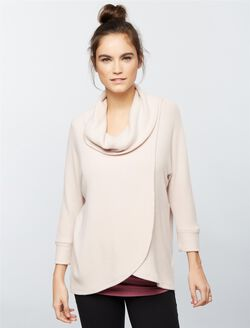 Cowl Lift Up Nursing Top, Antique Blush