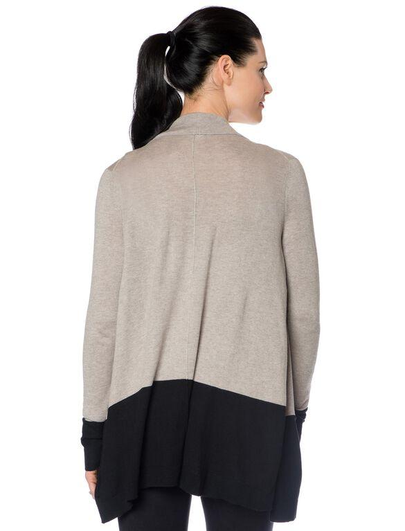 Cascade Maternity Sweater, Clay/Black