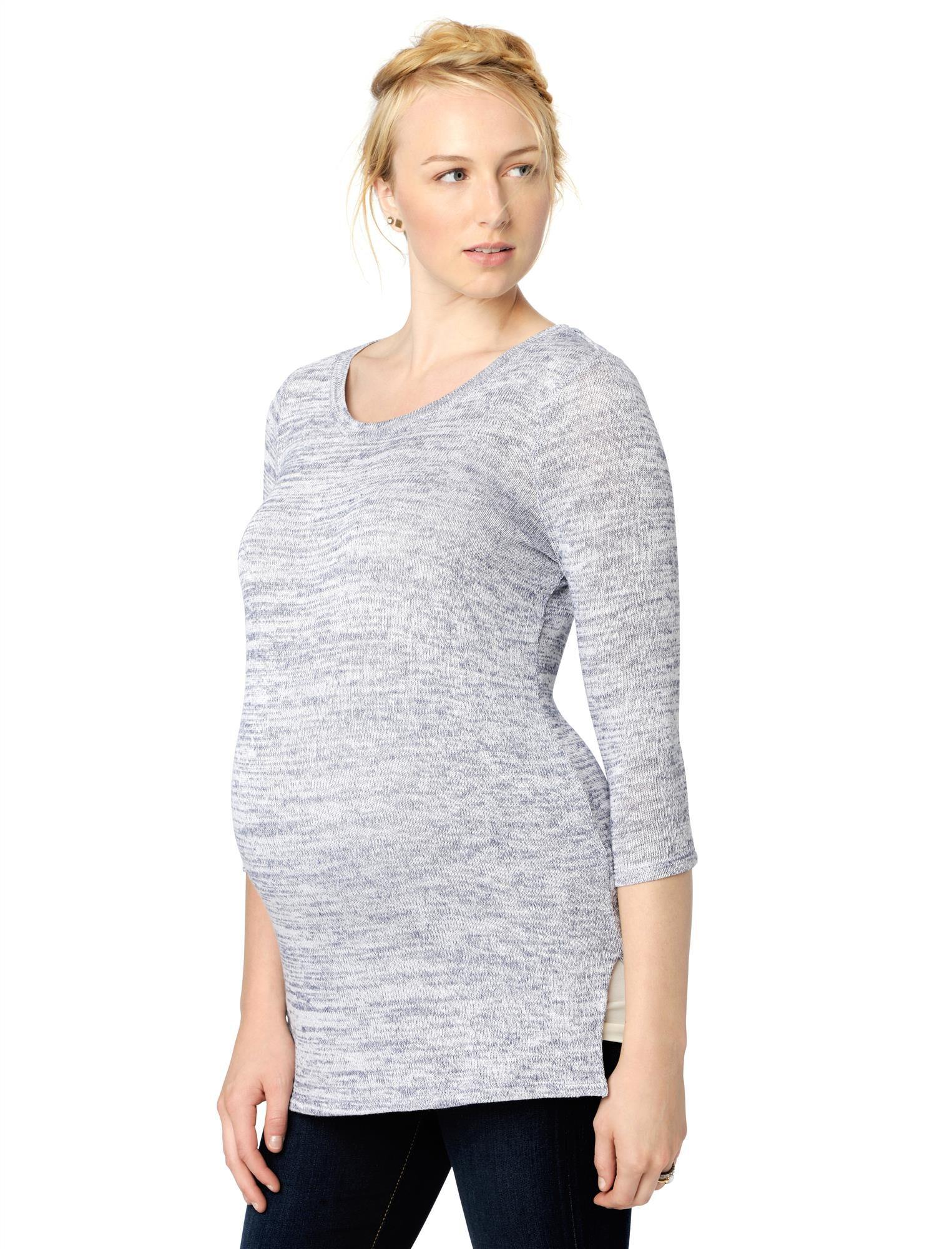 High-low Hem Maternity Sweater