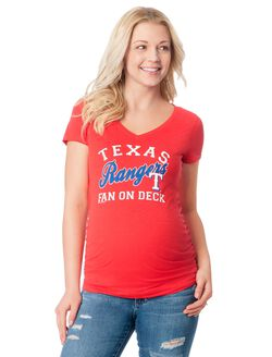 Texas Rangers MLB Short Sleeve Maternity Graphic Tee, Rangers