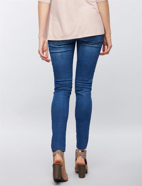 AG Secret Fit Belly Legging Ankle Destructed Maternity Jeans, 14 Years Destroyed