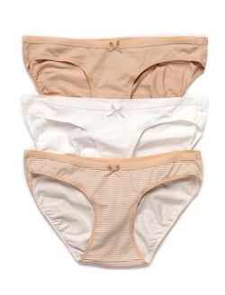 Maternity Bikini Panties (3 Pack)- Neutrals, Nude/Cloud/Nudestripe