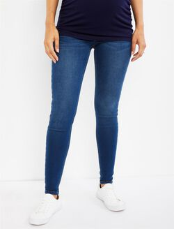 Secret Fit Belly French Terry Skinny Maternity Jeans, Medium Wash