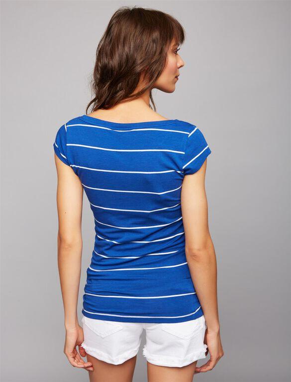 Maternity Shirt, Blue/White Stripe
