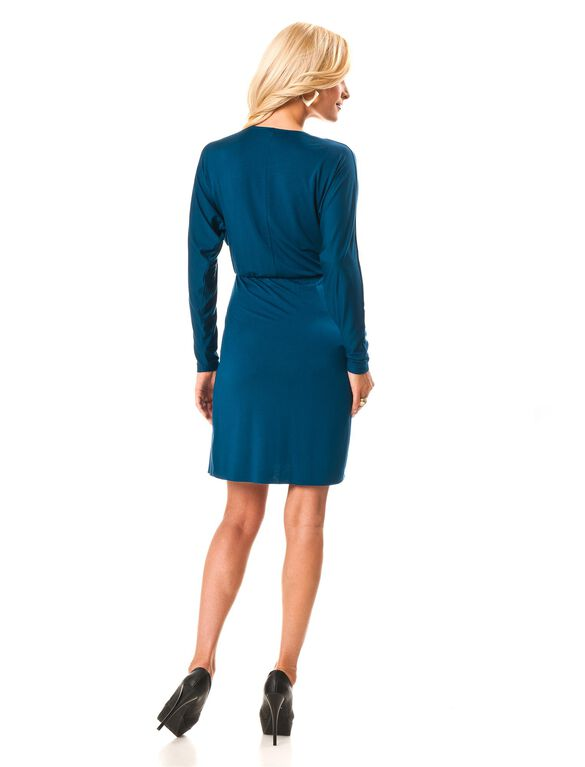 Rachel Pally Ruffle Front Maternity Dress, Celestial Blue
