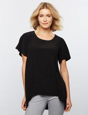 Ripe Side Zip Nursing Top, Black